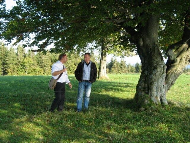 Besprechung vor Ort auf dem Schauinsland bei Freiburg
