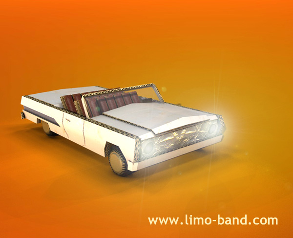 limoband lowrider 3D Modell für Musikvideo cool by the pool, copyright by limoband 2009