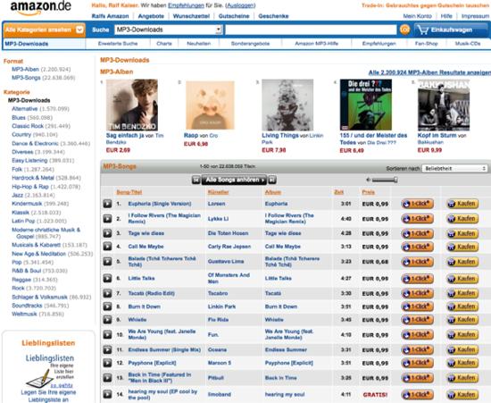 Limoband ist am 19.07.2012 auf Platz 14 bei Amzon in den Donwloadcharts